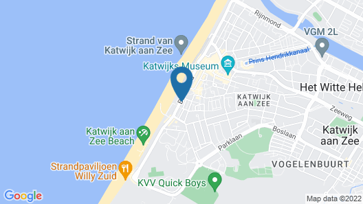 Authentic Jutters House on the Boulevard of Katwijk With sea View Map