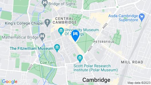 University Arms, Autograph Collection Map