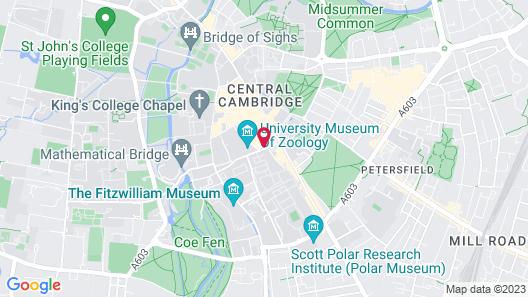 Hilton Cambridge City Centre Map