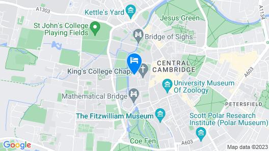 University of Cambridge, Clare College Map