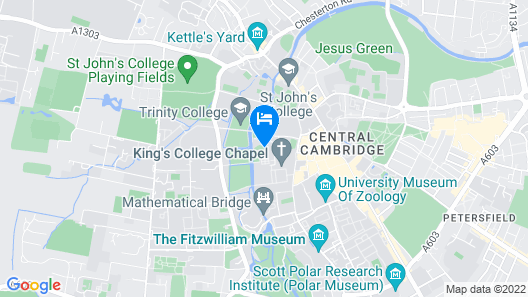 University of Cambridge, Trinity Hall Map