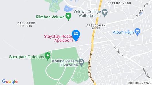 Stayokay Apeldoorn Map