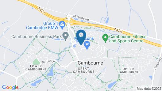 Cambridge Belfry Hotel & Spa Map