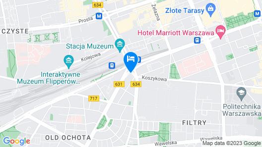 Radisson Blu Sobieski Hotel Map