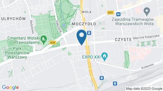Varsovia Apartamenty Kasprzaka Map