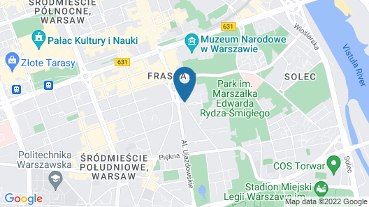 Sheraton Grand Warsaw Map