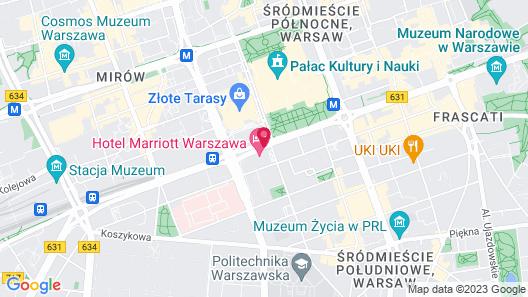 Warsaw Marriott Hotel Map