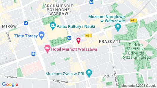 Novotel Warszawa Centrum Map