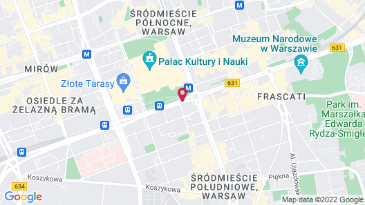 Polonia Palace Hotel Map