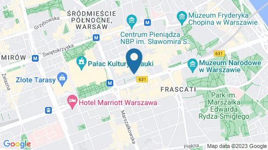PURO Warszawa Centrum Map