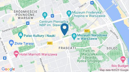 Hotel Indigo Warsaw - Nowy Swiat Map