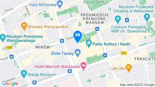 InterContinental Warsaw Map
