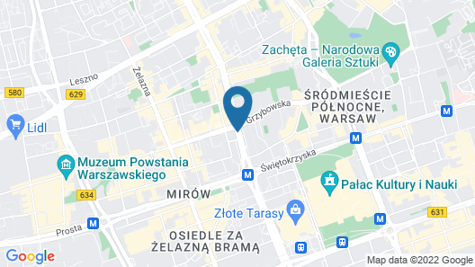 The Westin Warsaw Map