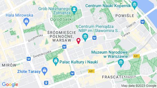 Hotel Warszawa Map