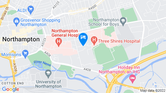 Ultra Modern, Super Comfortable, 2 Bed Apartment Northampton Town Centre Map