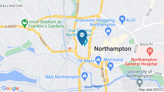 ibis Northampton Centre Map
