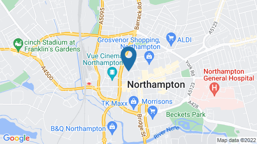 Park Inn by Radisson Northampton Town Centre Map