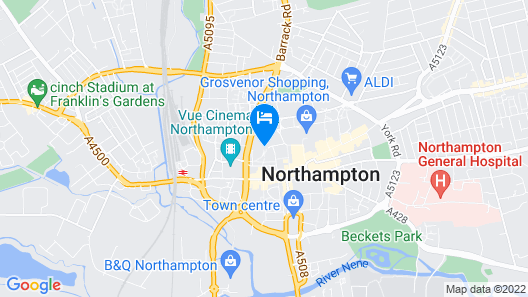Park Inn by Radisson Northampton Town Centre Map