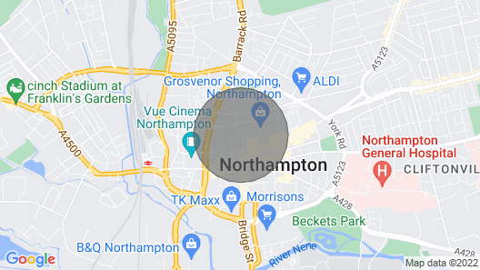 Leap Ruby Apartment - Northampton Town Centre Map