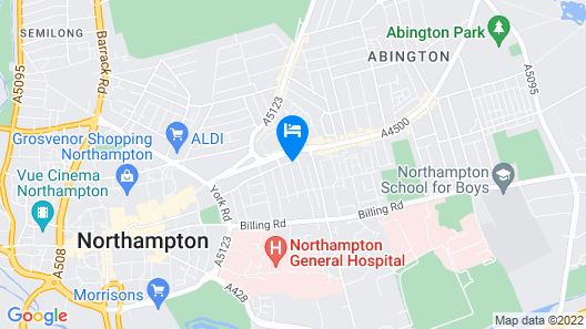 Northampton Town Centre Short Stay Map