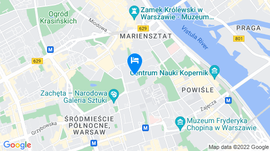 Hotel Bristol, A Luxury Collection Hotel, Warsaw Map