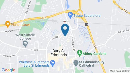 The Little Grey House in Bury Saint Edmunds Map