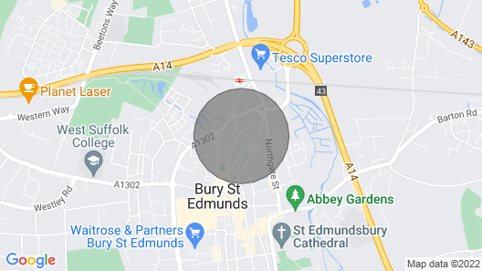 Little Grey House ..A two Bedroom Cottage in the Centre of Bury St Edmunds Map