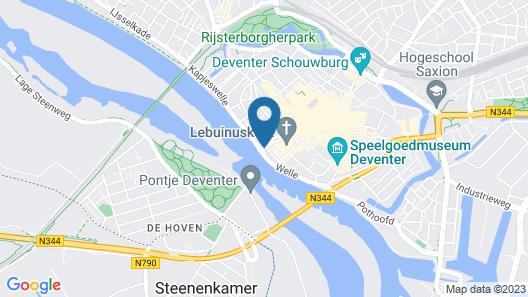 Hotel de Vischpoorte Map
