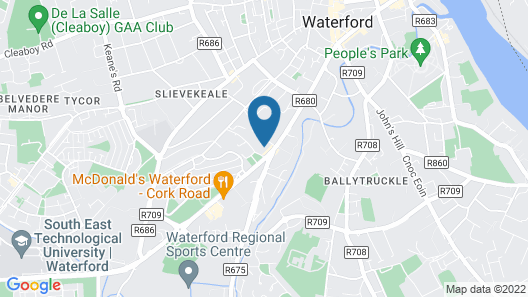Waterford City Campus - Self Catering Map