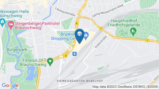IntercityHotel Braunschweig Map