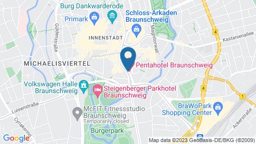 pentahotel Braunschweig Map