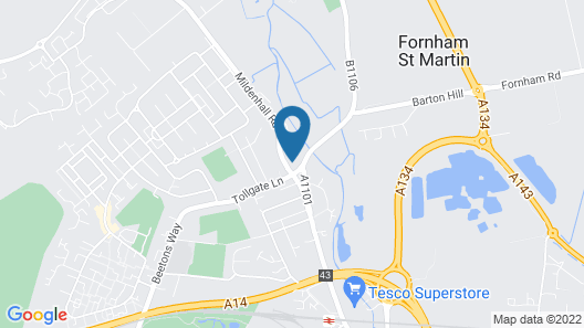 Best Western Priory Hotel Map