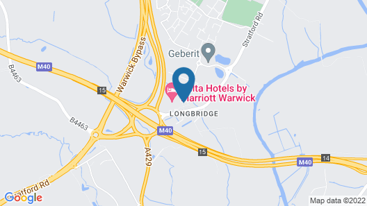 M40 J15 Warwick Hotel Map