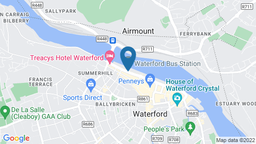 Dooleys Hotel Waterford City Map