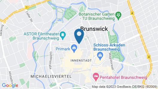 FourSide Hotel Braunschweig Map