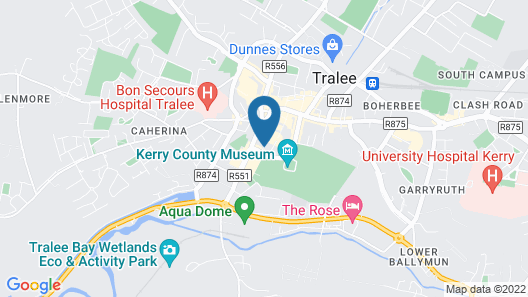Tralee Holiday Lodge Map