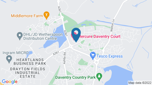 Mercure Daventry Court Hotel Map