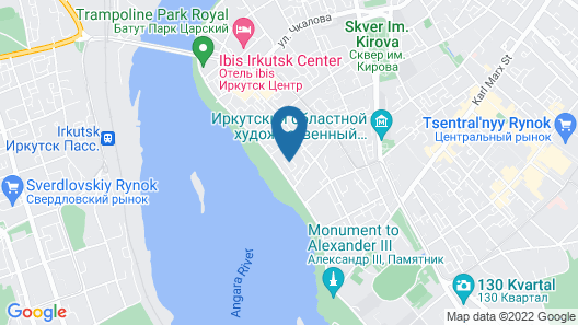 Irkutsk Hotel Map