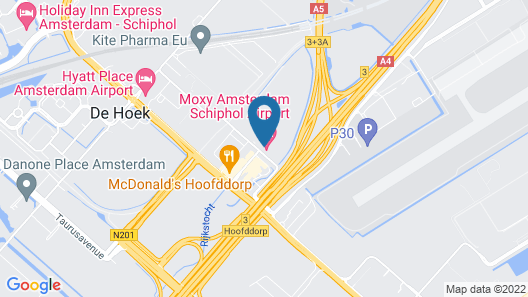 Moxy Amsterdam Schiphol Airport Map