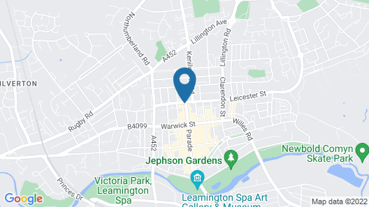 Leamington Spa Serviced Apartments - The Space Map