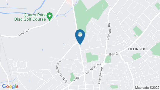 Leamington Spa Serviced Apartments - Radbourne Map