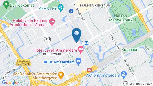 a&o Amsterdam Zuidoost Map