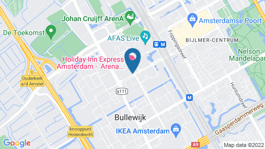 Holiday Inn Express Amsterdam - Arena Towers, an IHG Hotel Map