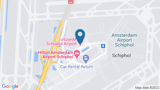 citizenM Schiphol Airport Hotel Map