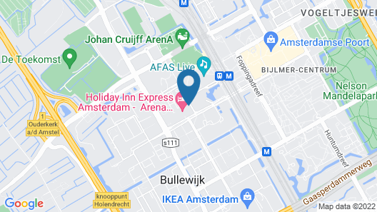 Holiday Inn Amsterdam - Arena Towers, an IHG Hotel Map