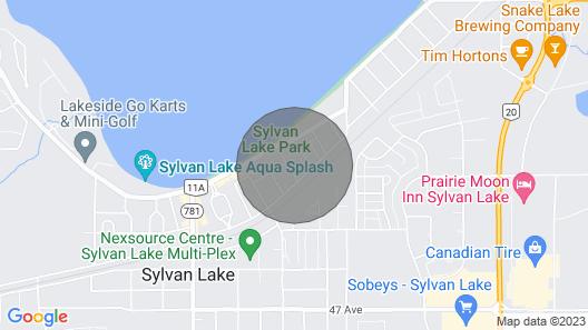 Sylvan Lake Cottage 1/2 Block to Beach Map