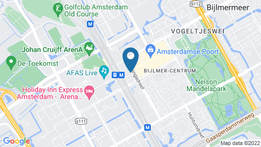Hampton by Hilton Amsterdam / Arena Boulevard Map