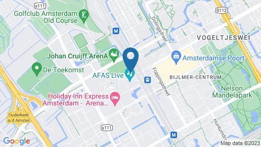 easyHotel Amsterdam Arena Boulevard Map