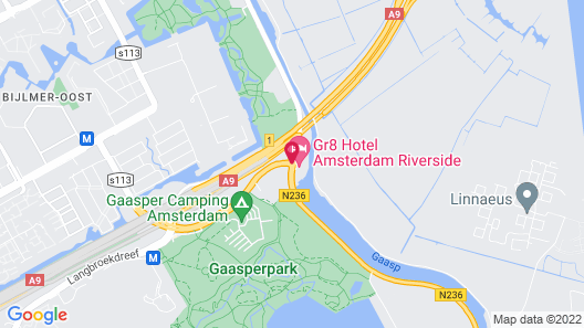 Gr8 Hotel Amsterdam Riverside Map