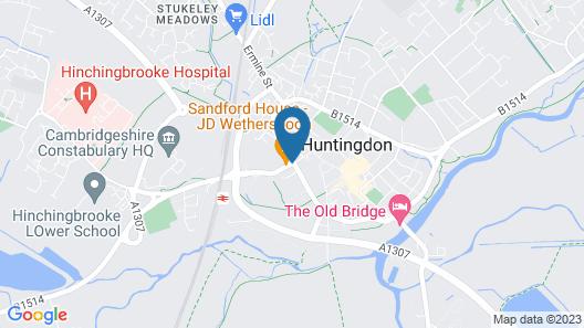 George Hotel Huntingdon by Greene King Inns Map